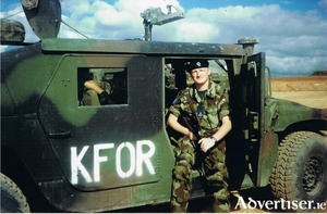 Michael J Whelan serving in Kosovo in 2001 with the Irish Defence Forces.