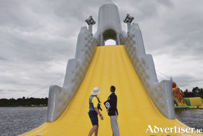 It's official - The world's tallest floating slide is located at Baysports, Hodson Bay, Athlone