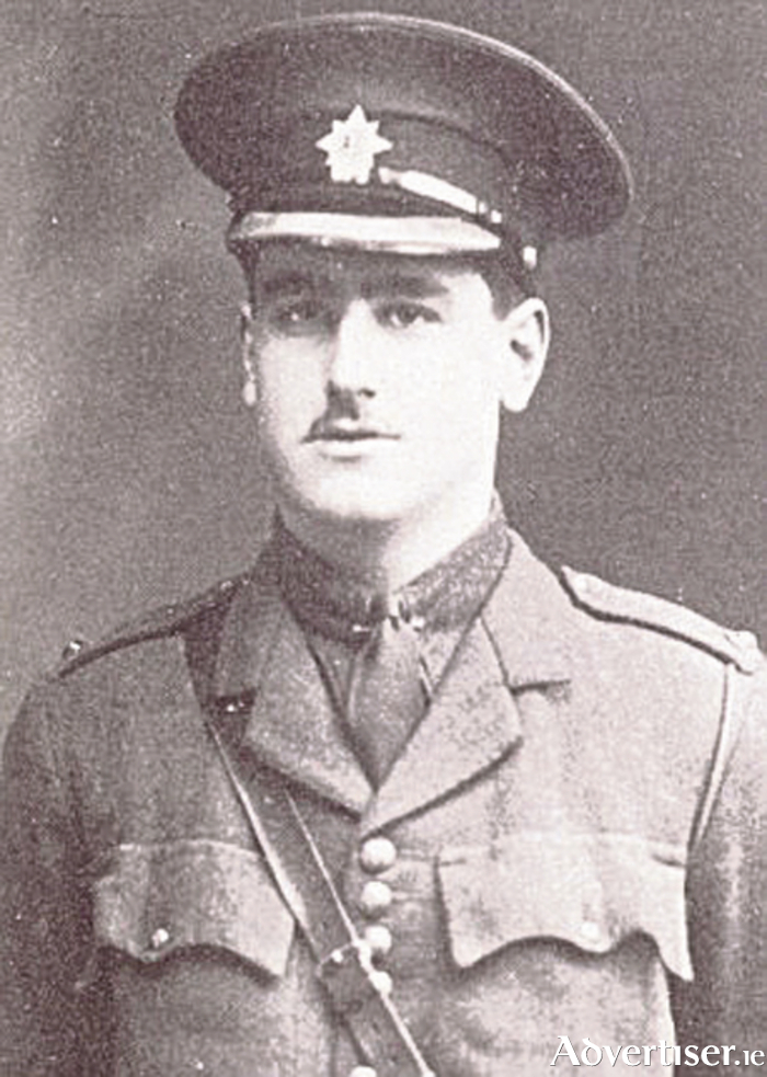 Jack Kipling, in officers uniform. Reported wounded and missing on his second day at the front.