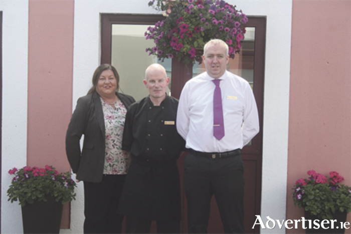 Pictured are: Catherine Daly, general manager; Paul McManus, head chef; and Jay McCann, food and beverage manager at the Creggan Court Hotel