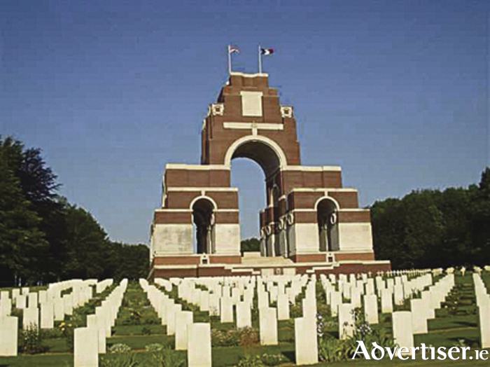 The Thiepval Memorial to the Missing of the Somme...'to whom the fortune of war denied the known and honoured burial given to their comrades in death,'