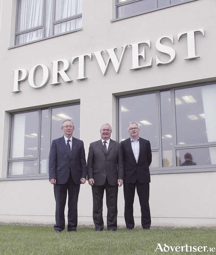 Portwest owners Harry, Cathal and Owen Hughes who are creating 55 new jobs in Westport