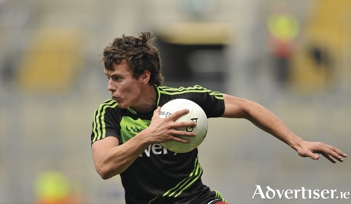Swerving to success: Michael Forde will be hoping to kick Mayo to the All Ireland final. Photo: Sportsfile