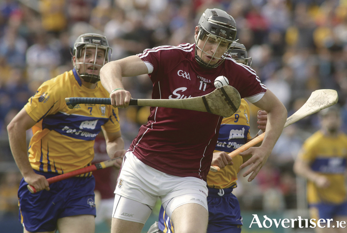 Galway's Joesph Cooney in action from the All Ireland Senior Champion quarter finals against Clare at Semple Stadium on Sunday.  Photo:-Mike Shaughnessy