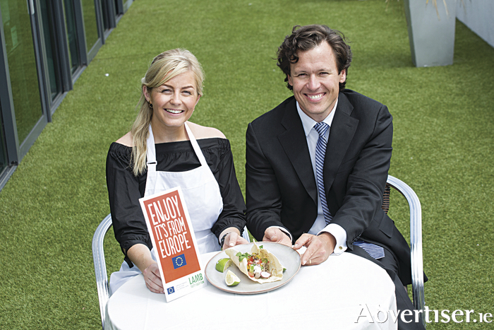 Tracey McDonagh, overall winner of Bord Bia's national lamb competition, pictured with Today FM's Anton Savage.