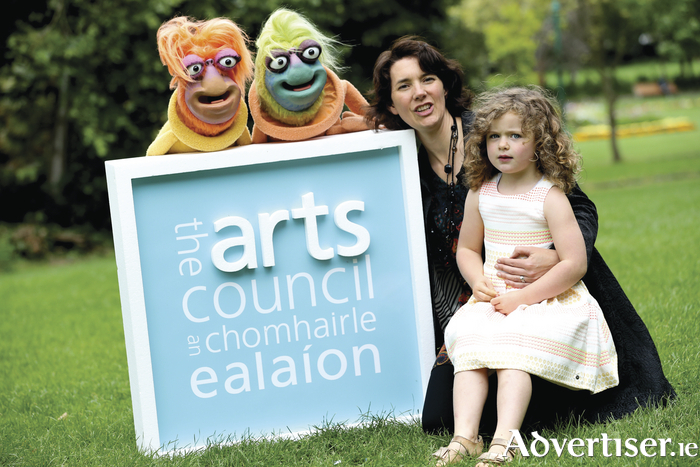 Child's play — Baboró International Arts Festival for Children Executive Artistic Director Aislinn ÓhEocha pictured with Juliana Toole (4) at the announcement yesterday.