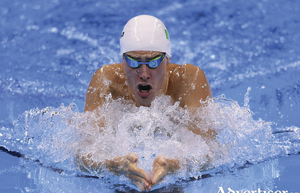 Doing his country proud: Nicholas Quinn won his heat in the 200m breaststroke of the Rio Olympics this week. Photo: Sportsfile