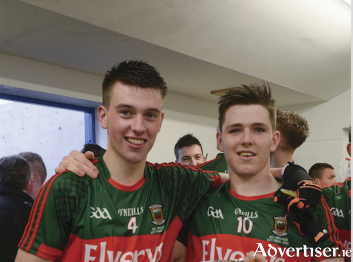 Going for more glory: David Kenny and Fergal Boand will be looking to add another All Ireland title to the two they've won already this year when they play in the All Ireland u21B final next month. Photo: Sportsfile.