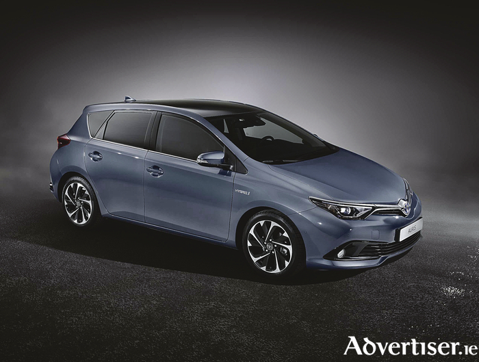 The Toyota Auris hybrid.