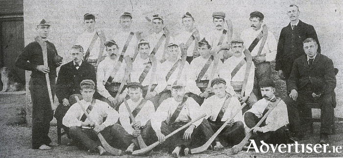 The 1896 hurling champions of Connacht, Ardrahan GAA.