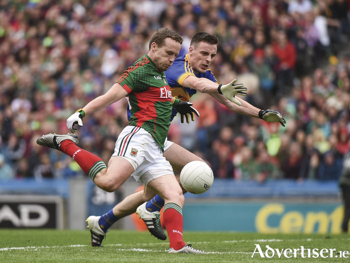 The leader: Mayo will be looking for more players to lead like Andy Moran come September 18. Photo: Sportsfile.