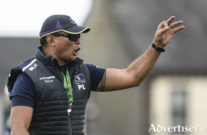Leading them out: Connacht coach Pat Lam will be looking for a winning start to his sides title defence this weekend. Photo: Sportsfile.