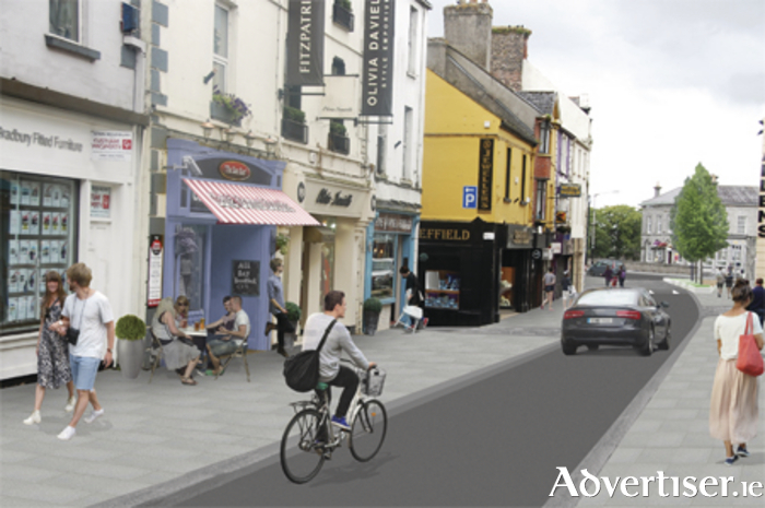 Preliminary images of what the enhanced Church Street might look like with the proposed one-way traffic system