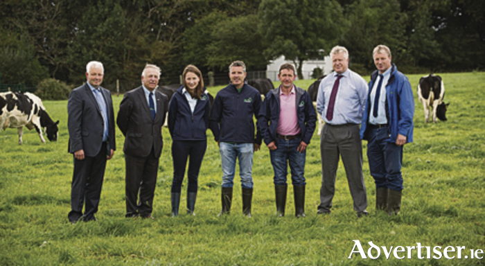 Arrabawn Co-op suppliers' drive for greater efficiencies and profits have been boosted with the launch of a new 'Milk for Profit' programme in conjunction with Teagasc. Sean Monahan, Chairman, Arrabawn Co-op, Director of Teagasc, Prof Gerry Boyle, Aine O'Connell, Arrabawn Co-op,  John Dowd, Kilconly, Tuam, Charlie Whiriskey, Kiltullagh, Athenry, Conor Ryan, CEO Arrabawn Co-Op and Pat Clarke, Teagasc, Athenry at the launch of a new 'Milk for Profit' programme in conjunction with Teagasc.
