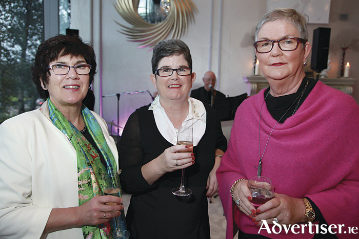 "At the fashion fundraiser 'Sparkle at the g' in aid of ""Tomorrow For Tomás"" were L-R: Mary Gillan, Paula Dunne and Maura Joyce. Photo Sean Lydon"