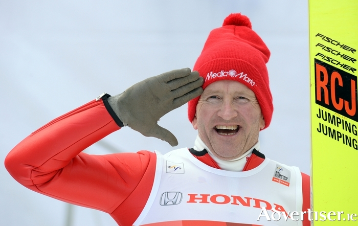 "British former ski jumper Michael 'Eddie ""The Eagle""' Edwards. Photo:- Christof Stache/AFP/Getty Images)"