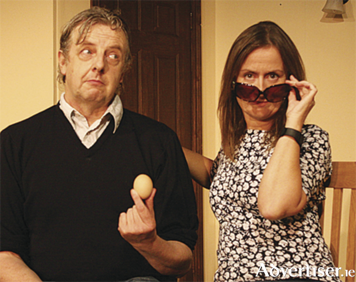Martin Kelleher and Annette Dowling in rehearsal for The Chip Van Plays Dixie