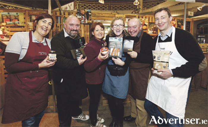 Some of the artisan producers at last year's Bite Food Festival at the RDS. Photo: Conor McCabe Photography