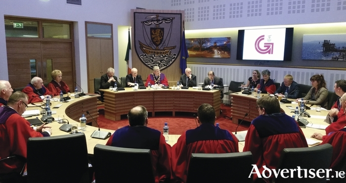 Galway City Council chamber. Photo:- Mike Shaughnessy