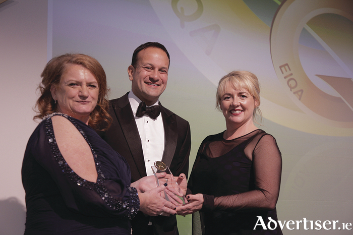 Photo caption L-R: Irene Collins, EIQA MD, Leo Varadkar T.D., Minister for Social Protection and Ursula Owens.