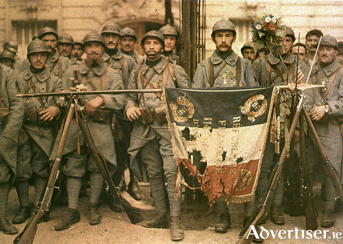 The 114th infantry in Paris, July 14 1917.