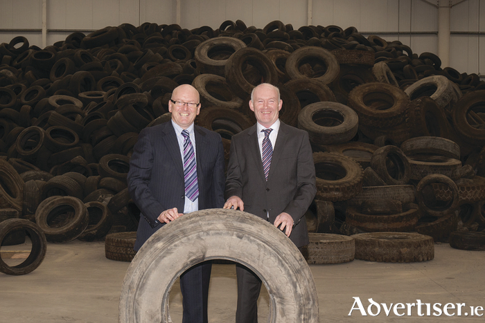 Galway's Gerry Fahy and James Coen will open their tyre reprocessing facility in 2017. Once operational they will reprocess 2.5million tyres per annum.
