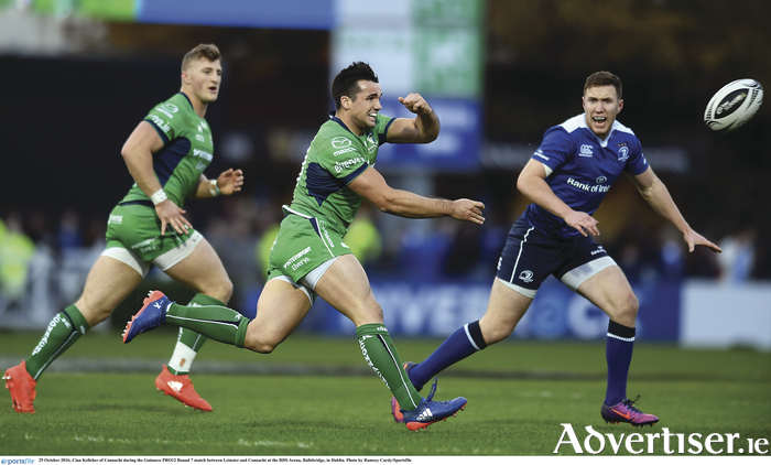 Cian Kelleher of Connacht during the Guinness PRO12 Round 7 match between Leinster and Connacht at the RDS Arena, Ballsbridge, in Dublin. Photo by Ramsey Cardy/Sportsfile