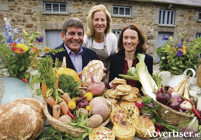 Andrew Doyle, Minister of State for Food, Forestry and Horticulture, Margaret Hoctor, Kilcullen Farm, Wicklow, and Mary Morrissey, senior manager food and beverage at Bord Bia at the launch of the Bord Bia Farmers Market training events.  Photo: Fennells.
