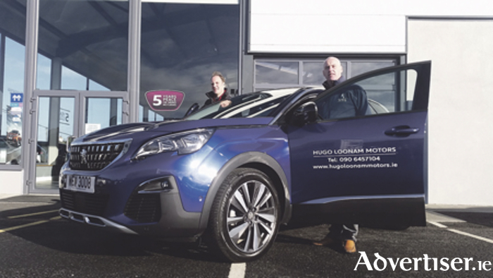 The all-new Peugeot 3008, which arrives on showroom floors in 2017, has taken the press and media by storm. The only one in the country is on display at Hugo Loonam Motors this Friday and Saturday, November 18 and 19. Call in for your VIP preview of this fantastic new SUV. Pictured are John Joyce and Hugo Loonam with the 2017 Peugeot 3008 at last week's Peugeot event.