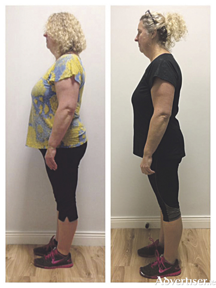 Leigh Baker achieved her weight loss and fitness goals with Sásta Athlone. Leigh lost 42 lb (3 stone), in addition to a fat percentage loss of 4.2 per cent, 57cm (22.5 in) off her measurements, and a visceral fat loss of 3. She also gained 13lb of muscle.