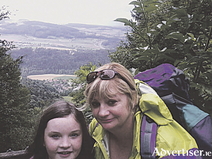 Louise McCormack (right) is pictured with her daughter Hazel