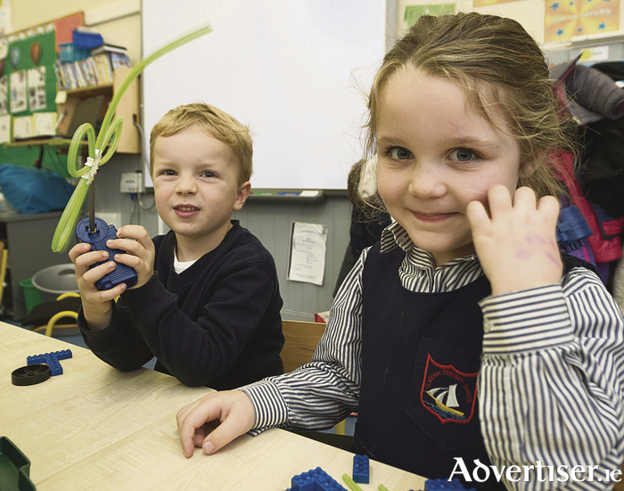 William Cullina  and Ellie Connolly, Junior Infants Claddagh National school . Photo: Andrew Downes,  xposure.