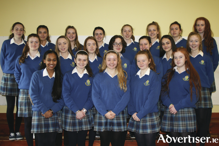 Some of the TY students from St Joseph's, Castlebar, who will be taking to the stage next week in their annual musical.