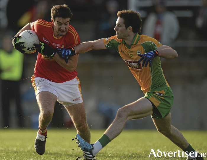 Rivalries renewed: Castlebar Mitchels and Corofin will meet for the third time in four years this weekend. Photo: Sportsfile