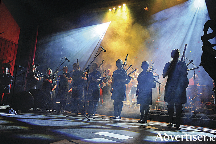 The Clew Bay Pipe Band and special guests will perform two nights of their show Pipe Versity at Westport Town Hall Theatre on November 25 and 26. Photo: Conor McKeown.