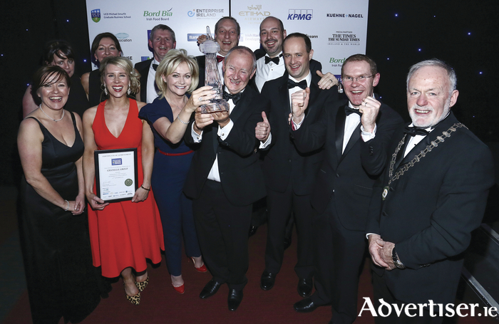 The Chanelle team celebrates at the Irish Exporters Awards.