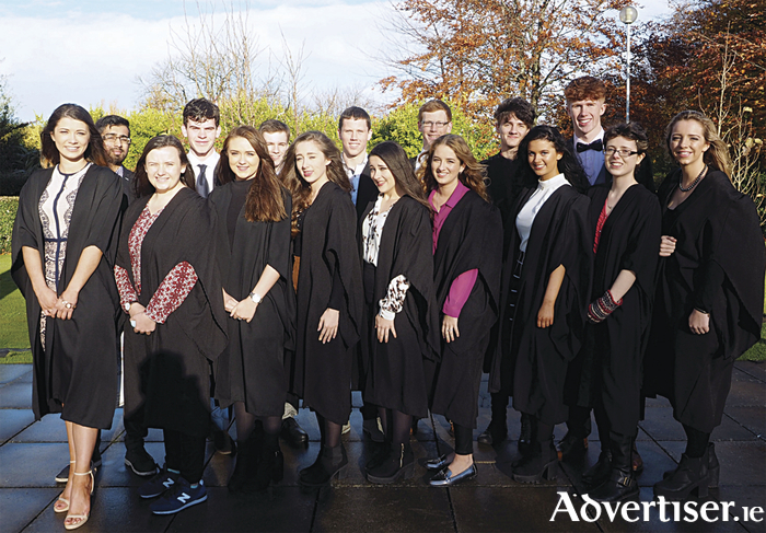 Back row (l-r): Ahmed Zafar, James Regan, Fiachra O Cochláin, Andrew Moore, James Flaus, Ronan O'Malley, and Mark Buckley.Front row(l-r): Alison Madden, Leah Nash, Emma Raftery, Annemarie Blake, Caoimhe Mitchell, Sophie Fitzgerald, Holly Naughton, Annie Bradley, and Emily Mulcair.Absent from the picture areDabhog Boyle, Essa Saleh, and Eanna Varley.