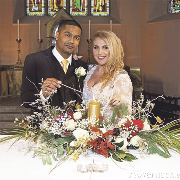 Harriett and Kleber on their wedding da