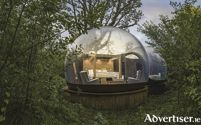 Forest dome at Finn Lough Resort.  Photo: Rob Durston.