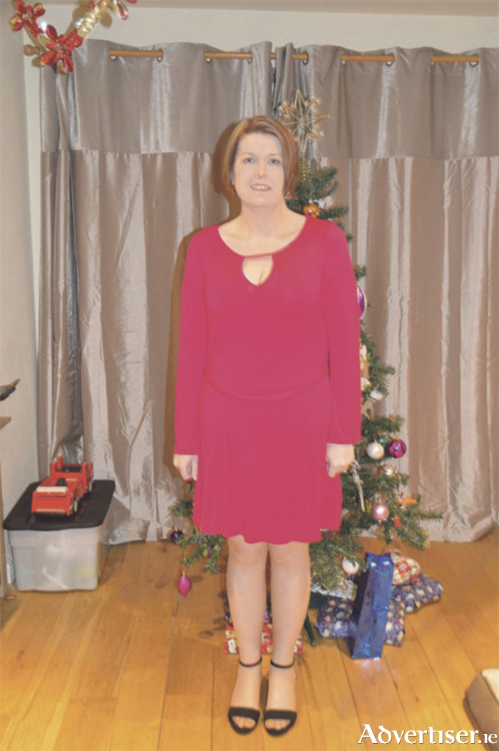 Deirdre pictured this Christmas, 10.5 stone lighter thanks to Slimming World