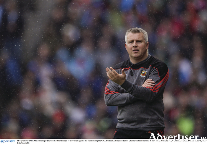 Back to the grindstone: It is back to basics for Mayo and Stephen Rochford on Sunday, when Mayo open their account for 2017 against NUIG. Photo: Sportsfile.