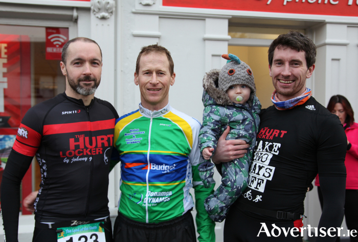 Micheal Hession (Claremorris), Aidan Collins (Glenamaddy), Tadhg and Colm Keane (Kilkerrin), who took part in the Land of Giants Duathlon in Claremorris.