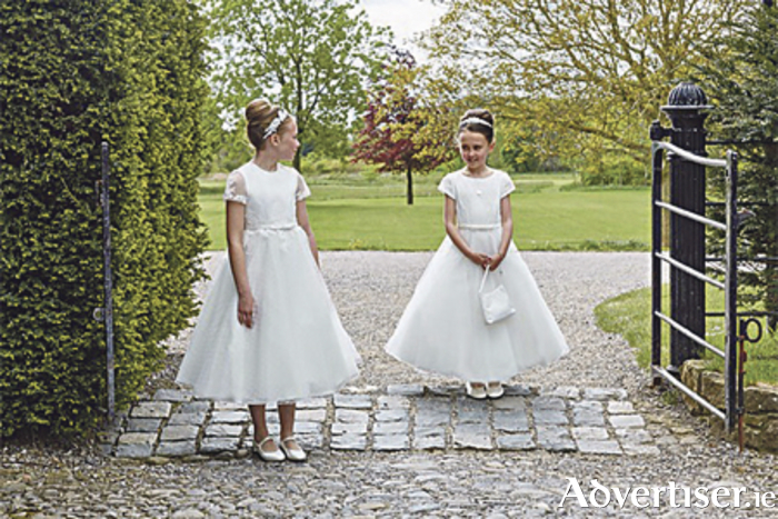 Isabella Communion dresses: left €310, right €265