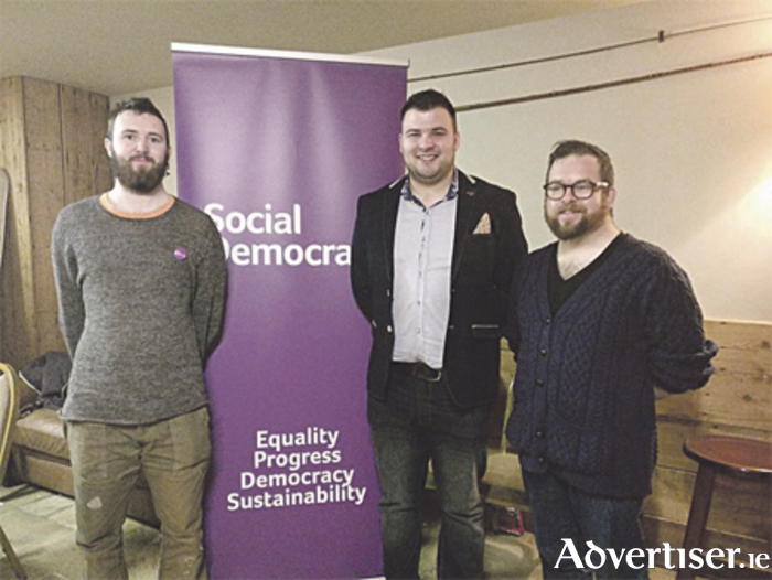 Pictured (l-r) at the AGM of the Longford-Westmeath branch of the Social Democrats are: Anthony Keane, vice chairperson; Karl Picard, chairperson; and Nigel Connor, secretary