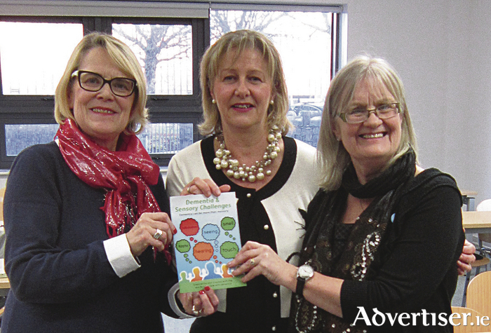 Helen Rochford Brennan (left), Carmel Geoghegan and Agnes Houston attending an event in Galway aimed at improving supports for those living with dementia.