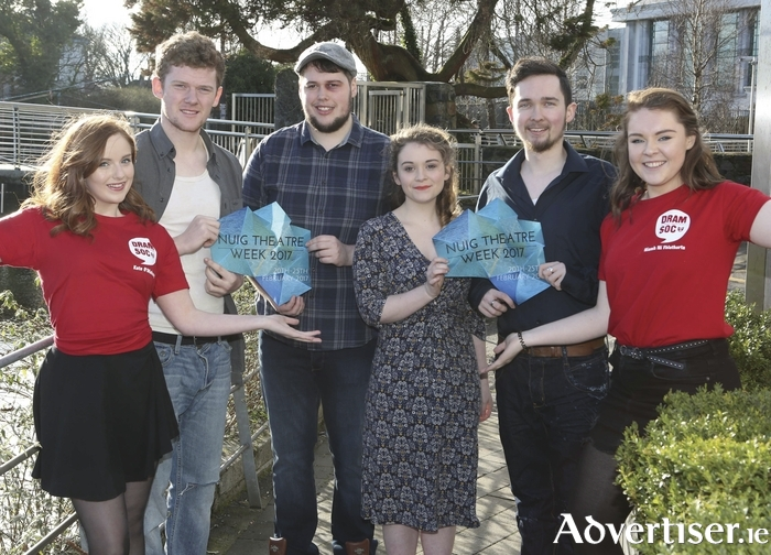 Pictured are NUI Galway students and cast members of Of Mice and Men which will take to the stage during NUIG's Theatre Week. From left, Kate O'Mahoney, Cathal Ryan, Shane McCormack, Ellen McBride, Robbie Walsh and Niamh Ní Fhlatharta.