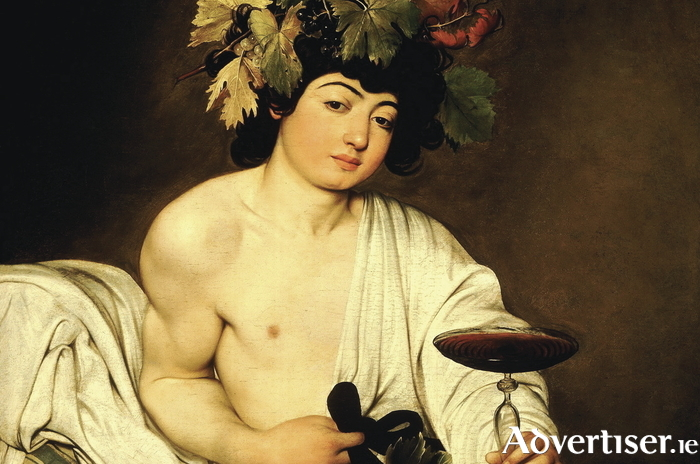 A details from Bacchus by Caravaggio.