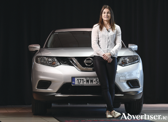 New Nissan ambassador: Windsor Motors presents a Nissan X-Trail to professional boxer Katie Taylor at Windsor Bray Nissan in Bray, Co Wicklow.
