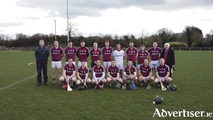 Galway Teachers who were defeated in the Interfirms All Ireland Senior Hurling semi-final: Back row, John Hardiman, Edward Kiely, Tomas Mannion, Darragh Curry, Colm. Larkin, Niall Armstrong, Eric Warde, Sean Kilduff, Paul. Concannon, Michael Fahy. Front row, Paul Killilea (capt), Colm Flynn, Brian Mahony, Mark Monaghan, Jamie Ryan, Rory Gantley, Syvie Og Linnane.