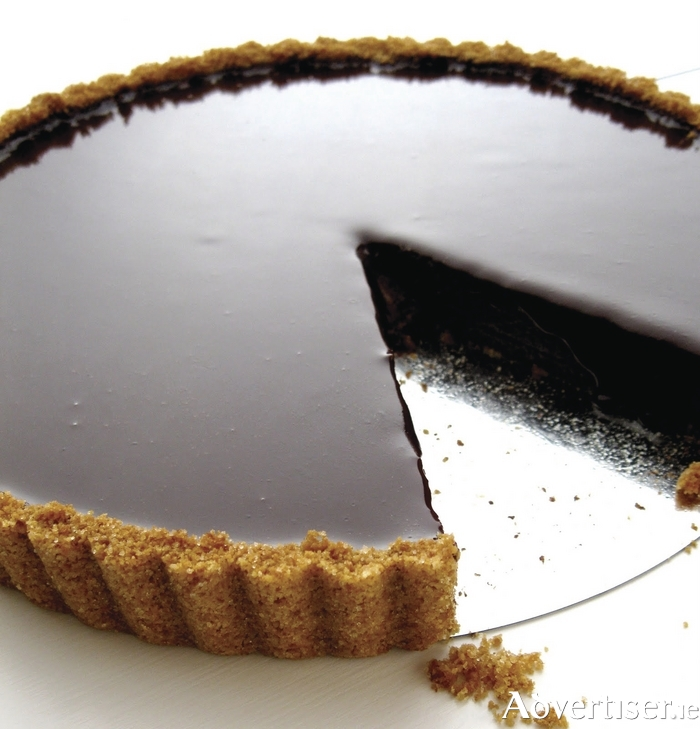 A delicious chocolate tart is a great tasty dish to make.